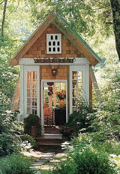 potting shed pottering shed she shed girl inspired outdoor spaces NoticeBoardStore.com