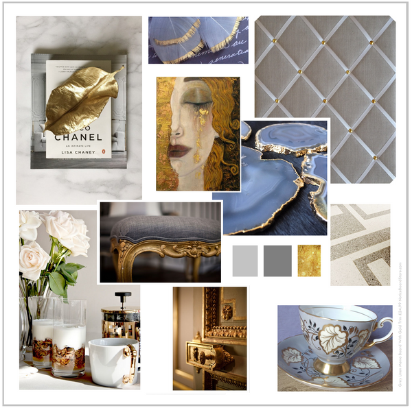 Scandi Grey & Gold Mood Board Interior Design Colour Ideas Memo Boards To Match Your Decor