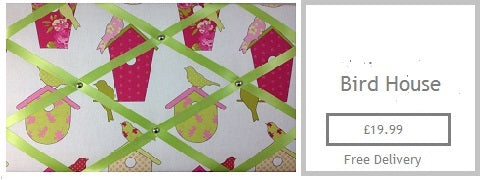 bird box fabric memo board gift for her mum mam nan gran sister girlfreind