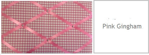 pink gingham memo board gifts for her under £20