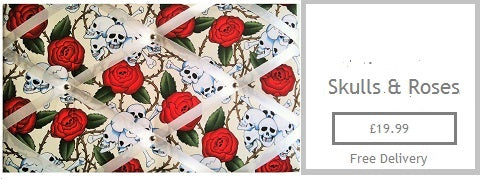 skulls roses tattoo inspired memo board