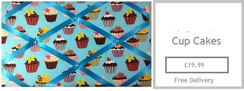 cupcakes fabric memo boards gifts for her mum mam sister nan girlfreind