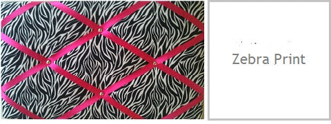 zebra print gifts for her under £20 fabric memo boards