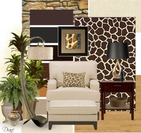 Interior Trends Giraffe - Decorating Mood Board- Giraffe Interiors - NoticeBoardStore