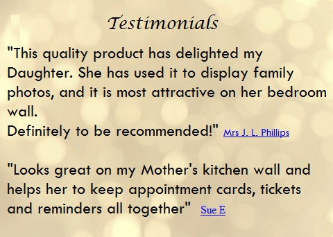 testimonials gifts for her fabric memo boards