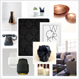 Black & Copper Mood Board Interior Colour Ideas The Notice Board Store - 3