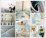Duck Egg Blue Montage Mood Board Collection