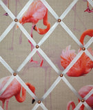 pink flamingoes interior mood board