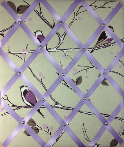 Lilac Tree Birds Notice Board - The Notice Board Store