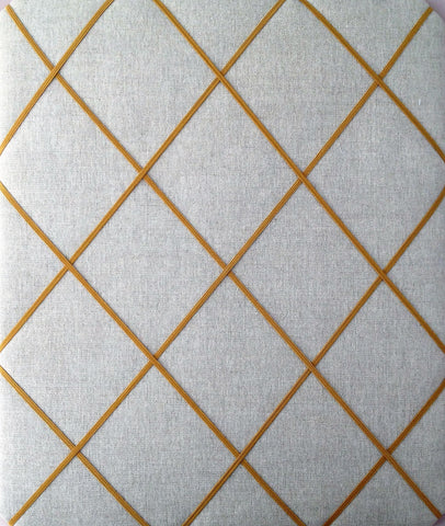 Laura Ashley Linen Gold Elastic Memo Board