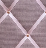 Close up Rose Quartzs Pink Linen Notice Board