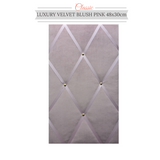 Classic Slimline Blush Pink Velvet Interior Accessories Memo Message Board
