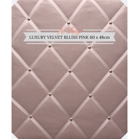 Extra Large Blush Pink Velvet Memo Message Notice Board Pinboard