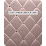 Extra Large Blush Pink Velvet Memo Message Bulletin Notice Board Pinboard