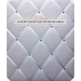Extra Large Eau de Nil Velvet Fabric Memo Message Bulletin Notice Board