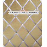 Extra Large Rich Gold Velvet Notice Board, Office Tidy, Organiser