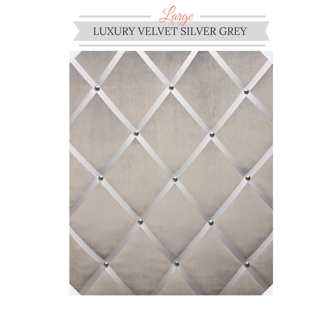 Silver Grey Velvet Message Board, Best Seller Large Memo board