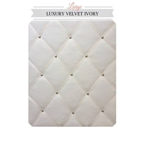 Large Ivory Velvet Memo Board On Trend Colours Organise your home