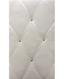 Classic Slimline Ivory Velvet Fabric Memo Board, for kitchen, bedroom or office