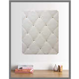 Ivory Velvet Large Memo Board for Home Office Organiser Desk Tidy