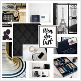 Black White Bonze Mood Board Board Colour Ideas Interiors