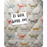 Fantastic Woodland Fox Print Large Message Board