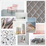 Scandi Grey Linen & Copper Pink Interior Decorating Colour Ideas