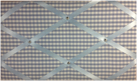 Blue Gingham Memo Board - The Notice Board Store - 1