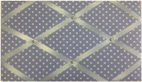 notice board baby blue white spots memo message fabric