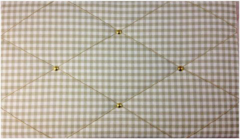 Mocha Gingham Notice Board - The Notice Board Store  - 1