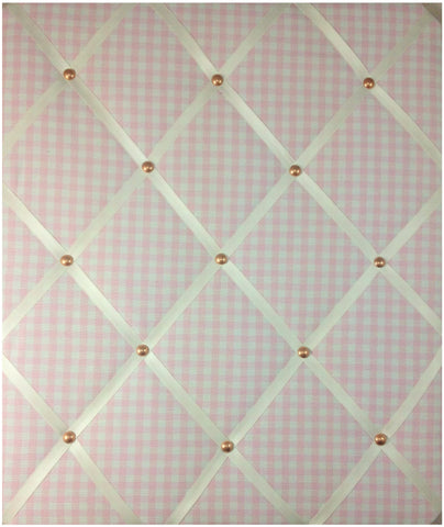 Dusty Pink Gingham Notice Board - The Notice Board Store  - 1