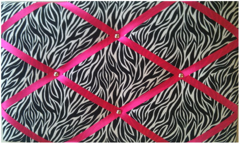 Zebra Hot Pink Notice Board - The Notice Board Store  - 1