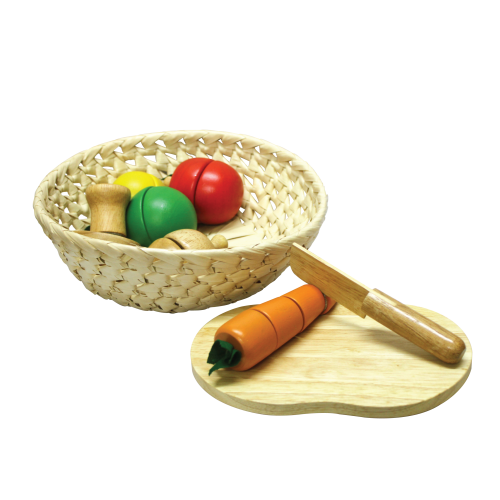 Fruit & Veggie Basket | Wooden Food Set