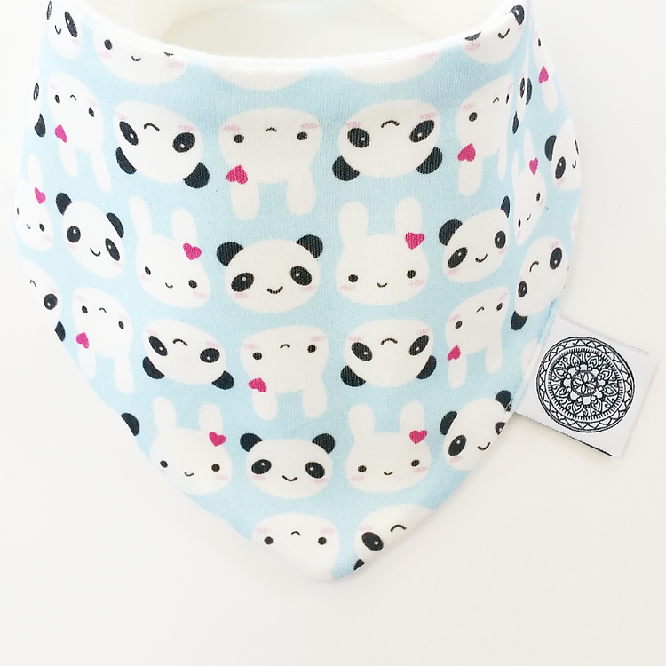 Ollie & Coco - Kawaii Bunny & Panda Bandana Bib Baby Fashion Accessories Essentials Organic Gift