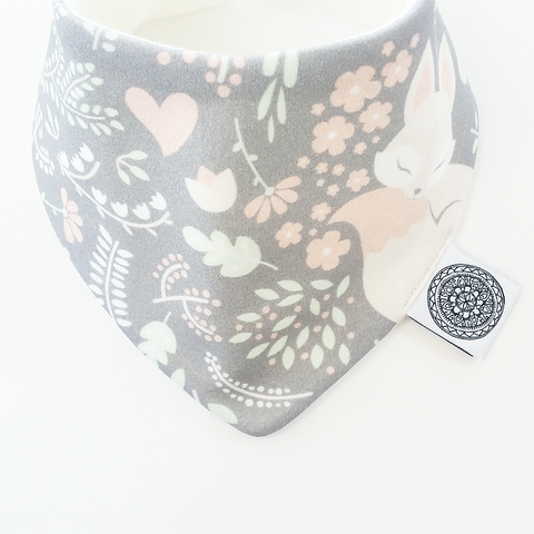 Sleeping Fox Ollie & Coco Bandana Bib Baby Fashion Accessories Essentials Organic Gift