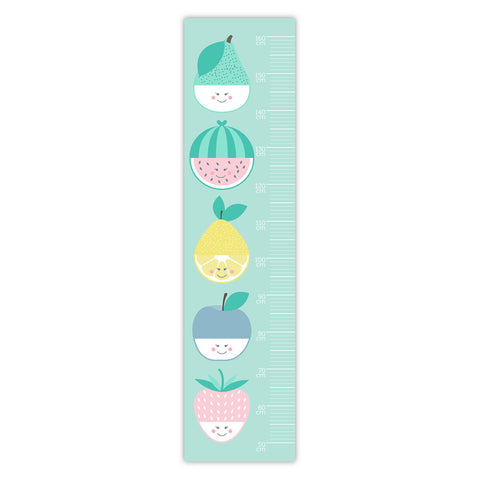 Fruit Face Two Little Ducklings Removable Height Chart baby nursery kids room play room gift