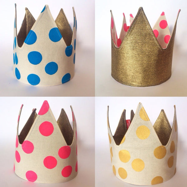 Reversible Fabric Crown - Gold and Colour Spot.jpg