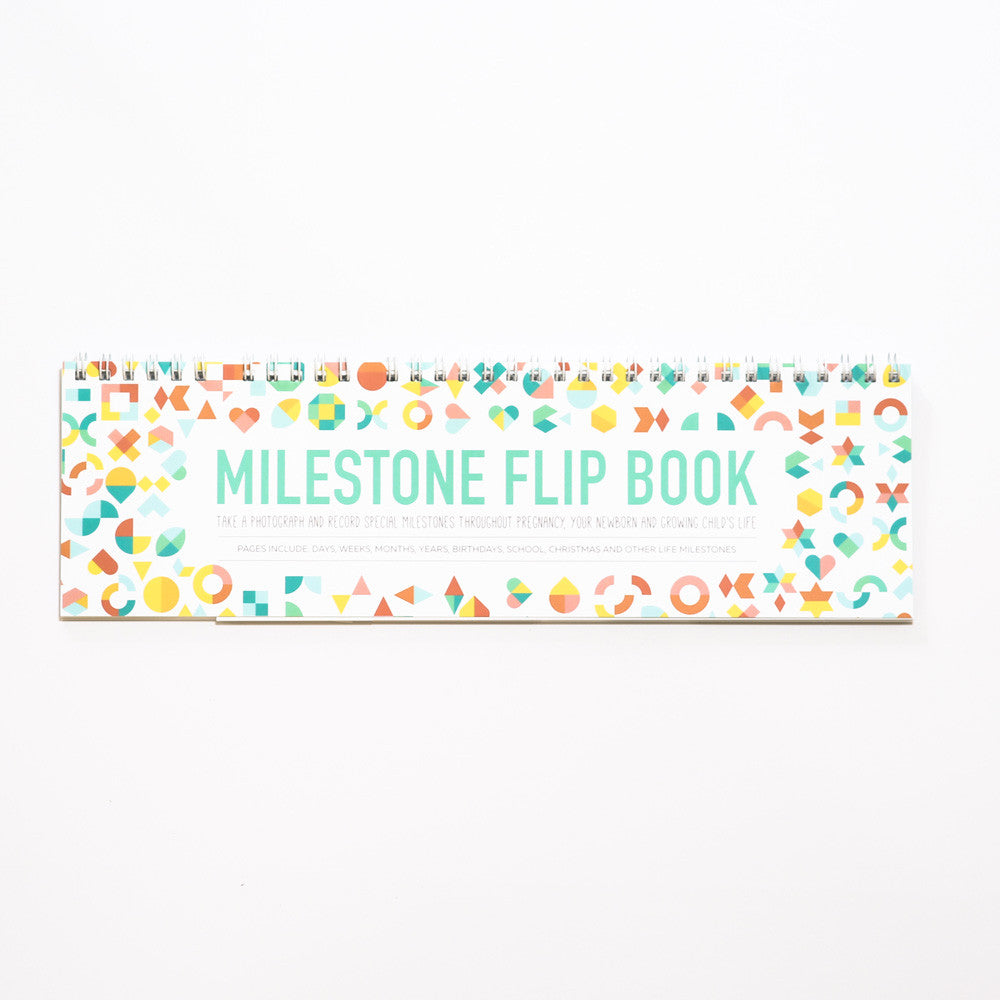 Milestone Flip Book to capture those precious memories in pregnancy, baby, toddler, childhood.