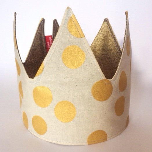 Gold Spot and Gold Reversible Fabric Crown.jpg
