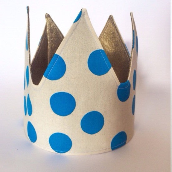 Blue Spot plus Gold Reversible Fabric Crown.jpg