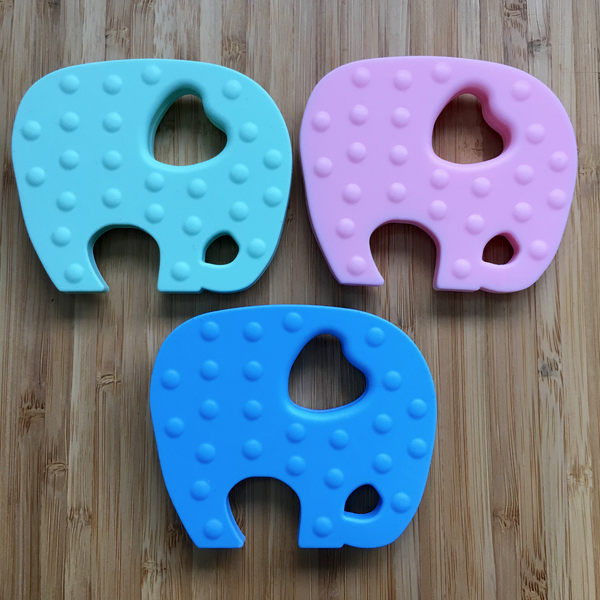 TEXTURED SIDE OF ELEPHANT TEETHERS