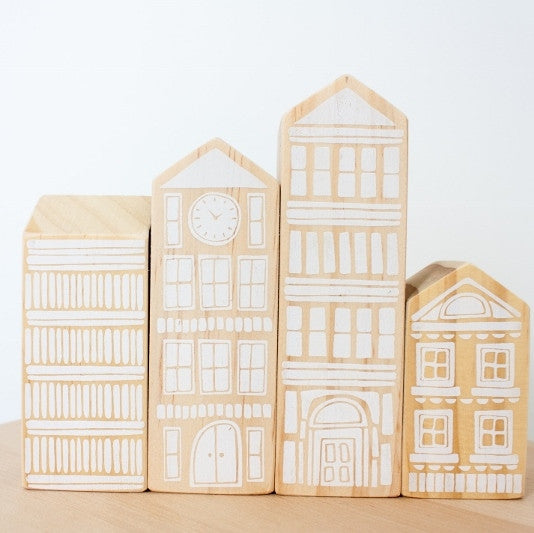 Babbe and me white wooden house blocks .JPG