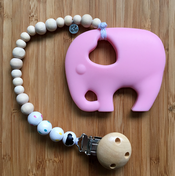ELEPHANT TEETHER WITH POP