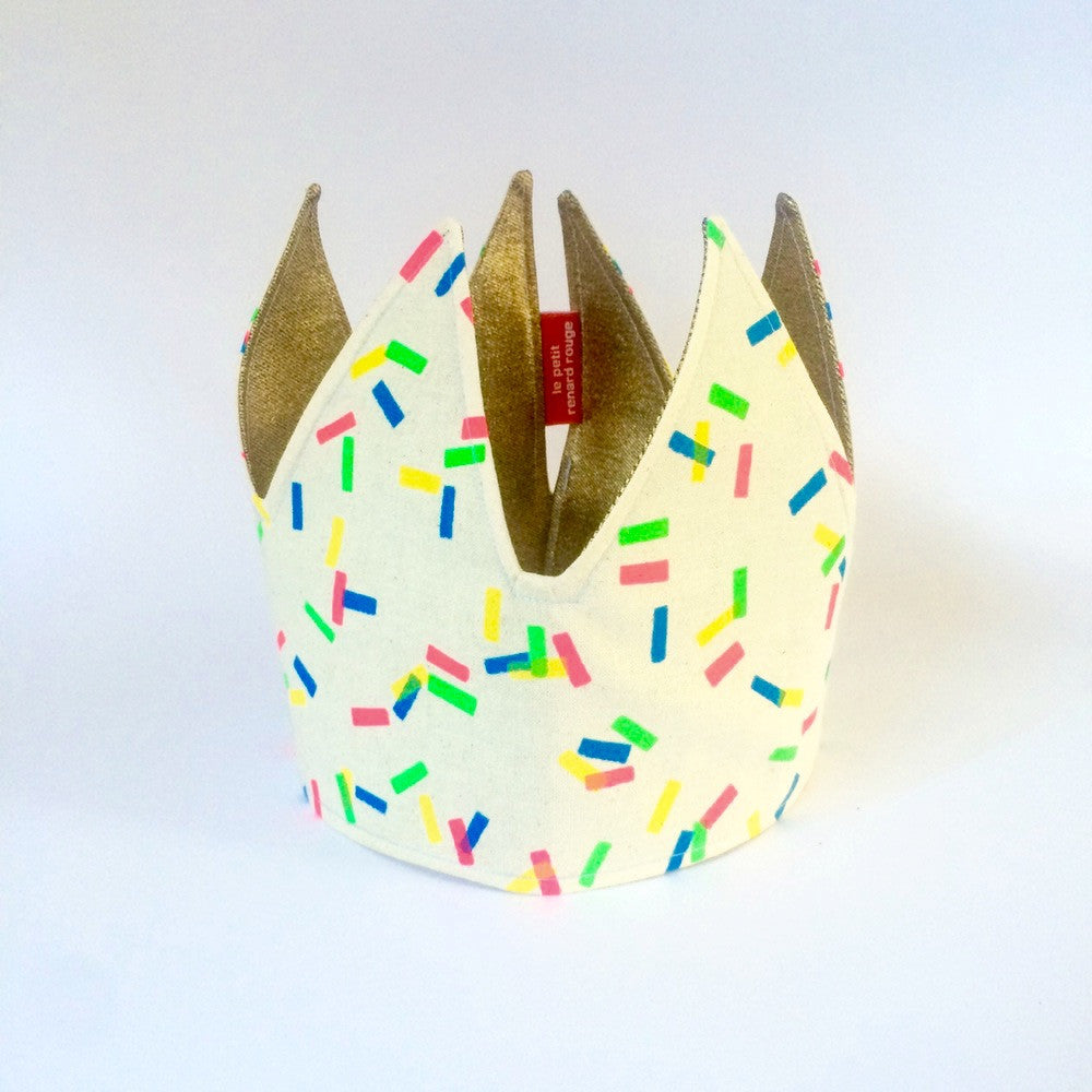 Sprinkles and Gold - Reversible Fabric Crown.jpg