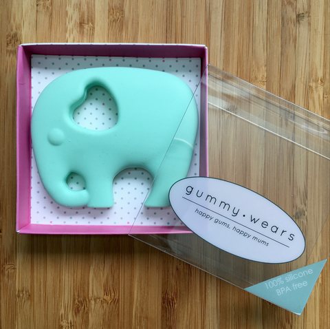 MINT ELEPHANT TEETHER