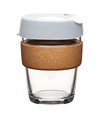 Keepcup - Glass and Cork Reusable Coffee Cup 8oz 12 oz 16oz