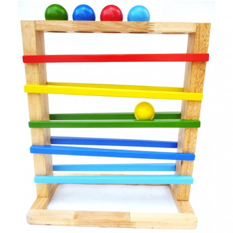 Wooden Ball Rack Toy Toddler Kids Development Toy