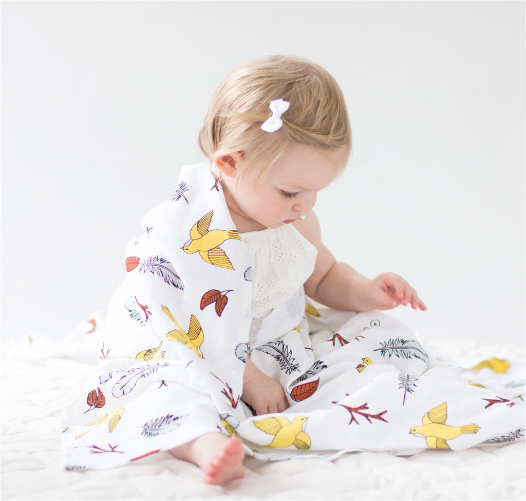 Birds of a Feather | Organic Cotton Baby Wrap