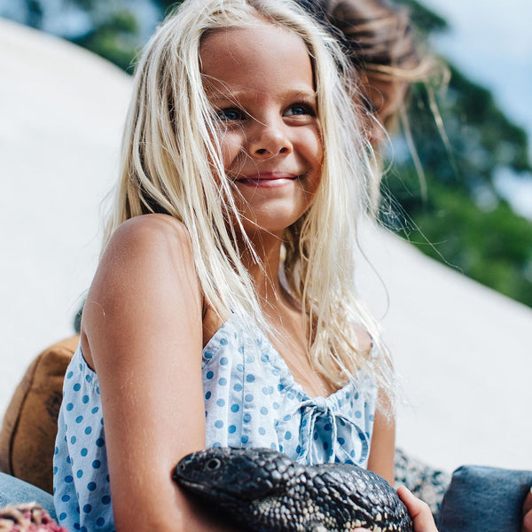Children of the Tribe | Chambray Stone Playsuit | Lost Desert