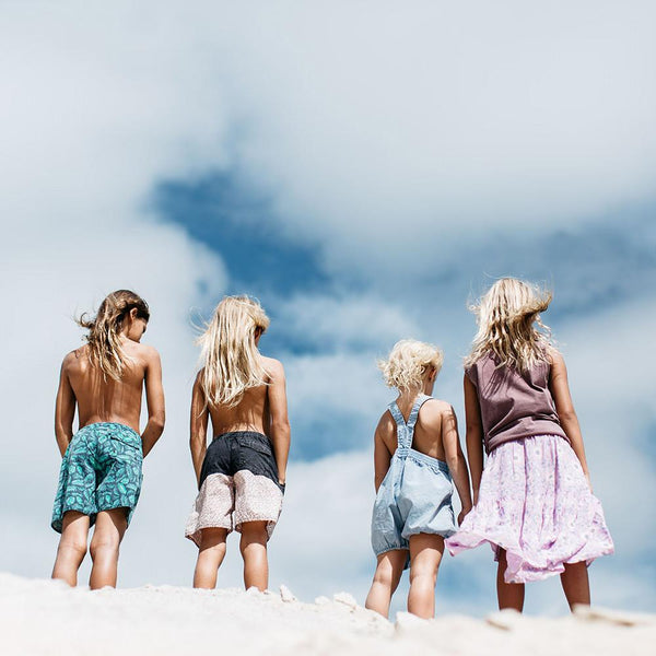 Children of the Tribe | Deep At Sea Sunkissed Drawstring Shorts | Lost Desert